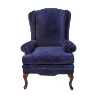 Louie Blue Velvet Wingback Chair