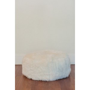 Large White Pouf