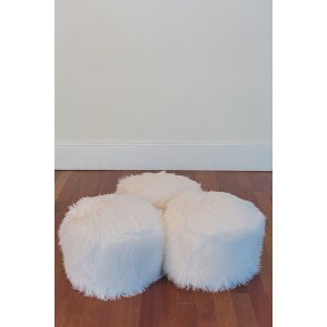 Small White Pouf