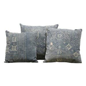 Blue Mudcloth Pillows