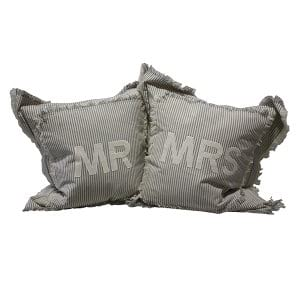 Mr & Mrs Pillows - Pair