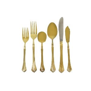 Gold Flatware Service for One