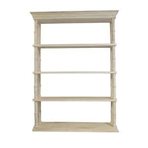 Faye - Distressed White 4 Shelf Rack