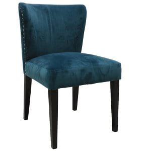 Teal Velvet Vanity Chair