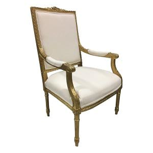 French Gilded Arm Chair - King