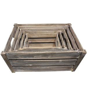Brown Wooden Crates