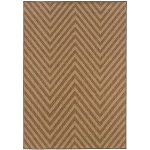 Beige Chevron Area Rug