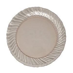 Pink Swirl Depression Glass Plates