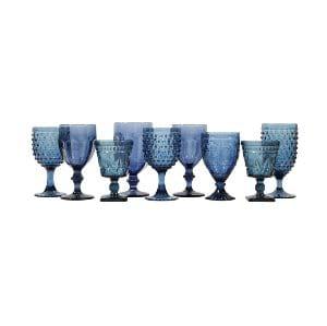 Dusky Blue Glassware Mix