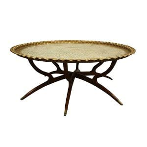 Ophelia Brass Tray Coffee Table