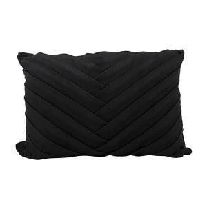Black Pleated Lumbar Pillow