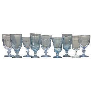 Ice Blue Glassware Mix