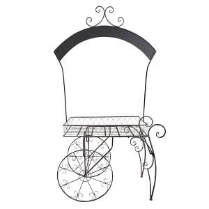 Chelsey - Wrought Iron Chalkboard Garden Cart