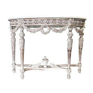 Marribelle Marble Demilune Table