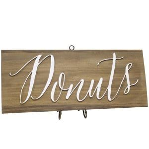 Donut Sign and Stand