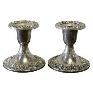Lucia - Silver Candlesticks Pair