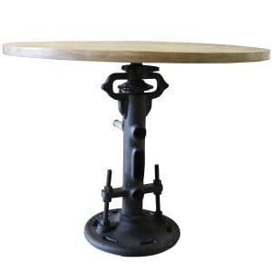 Benjer Industrial Pedestal Table
