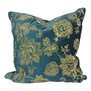 Stef Teal & Gold Pillow
