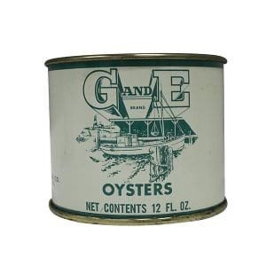 G&E Oyster Cans - 12oz
