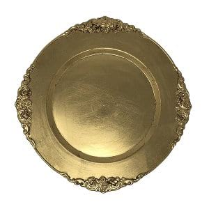 Vintage Gold Charger Plate