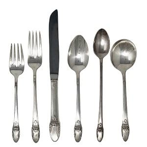 Vintage Silverware Service for One