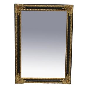 Levin Black and Gold Mirror