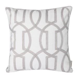 Gab Gray Geometric Pillow