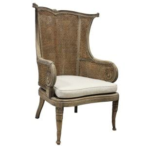 Cianna - Double Cane Back Wing Chair