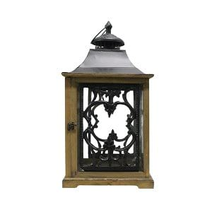Wood and Black Lanterns - Large