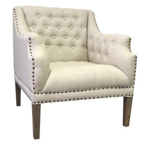 Kelly Linen Club Chair