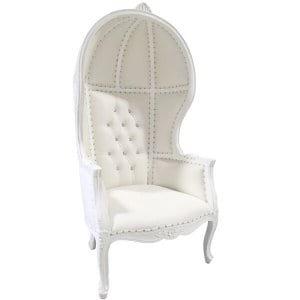 Venus White Hood Chair