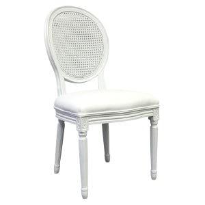 Antrim White Cane Back Chair