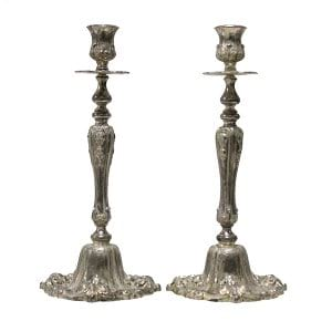 Elioise - Silver (Pair) Ornate Candlesticks