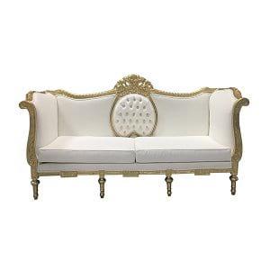 Gopal White Sofa
