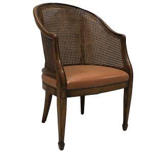Davenport Tub Cane Back Chair