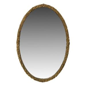 Olivia Gold Oval Mirror