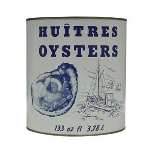 Huitres Oysters Cans - 1 Gallon
