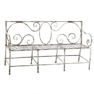 Ingrid - Distressed Iron Bench