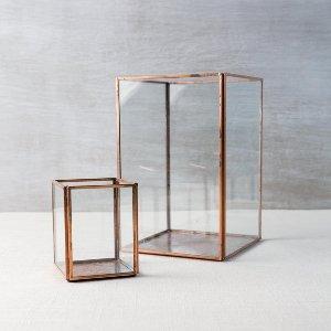 Copper glass display box- small