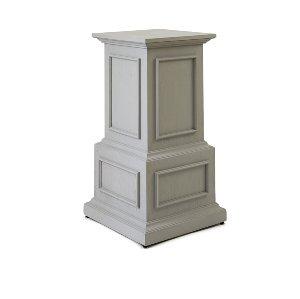 Petra- Classical Gray Wood Pedestal