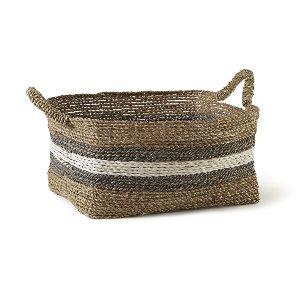 Basket- Cream & Gray, Large