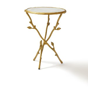 Willow- Gold & Marble Accent Table