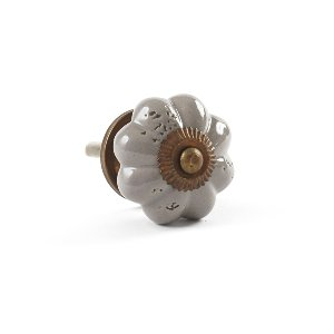 Knob- Gray Floral