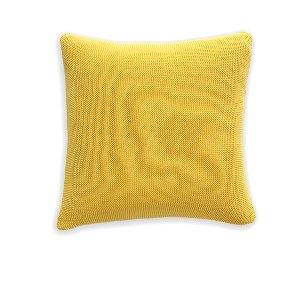 Sunny Yellow/Gray Knit Cushion
