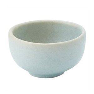 Gray/Blue Artisanal Stoneware Pinch Bowl