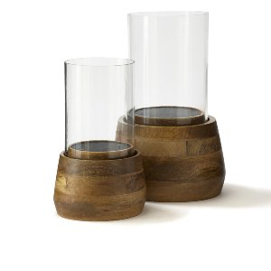 Kinsey- Wood & Glass Hurricanes-Large