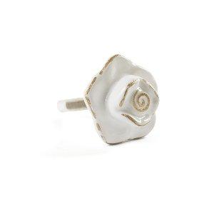Knob- Rose Petal Ivory