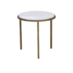 Luxe- Hammered Gold Accent-Round
