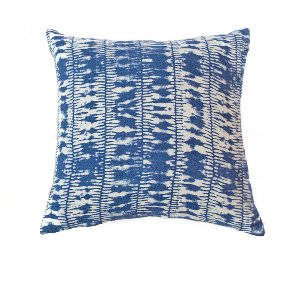 Indigo Linen Cushion-Striped