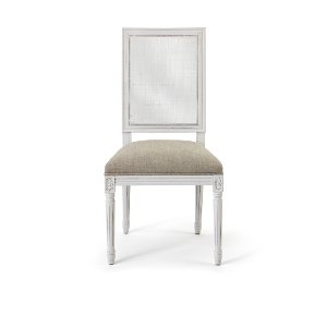 Miles- White Cane Back  Chair
